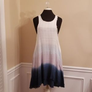 Alter'd State Size Large Ombre Fringed Tunic dress